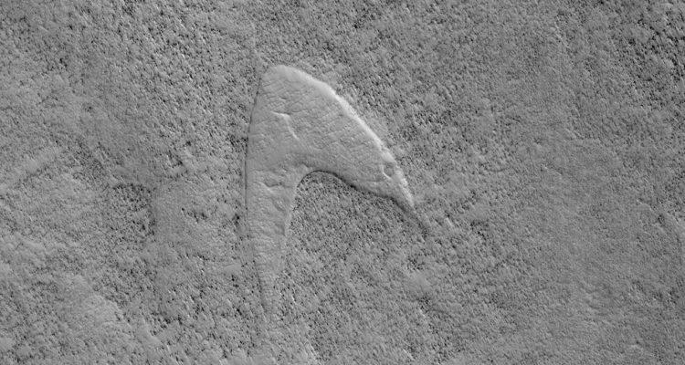 DES MOTIFS STAR TREK RETROUVÉS SUR MARS ?